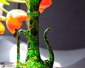 Hand Painted Glass Vase / Teapot - RESERVED for Stacey