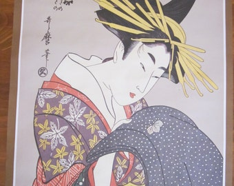 Large Print of Japanese Woodblock - Utamaro Geisha