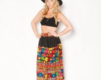 Vintage Embroidered Banjara Skirt, Belly Dancer Skirt