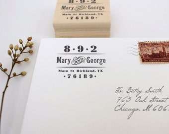 Personalized Return Address Stamp, Custom Address Stamps, Vintage Address Stamps, Western Address Stamp, Wood Mounted Address Stamps, Gifts