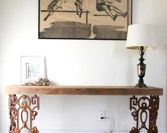 Awesome The Piety Table Console Table Or Writing Desk Made From Reclaimed Wood And Wrought  Iron