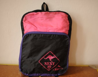SALE Vintage 80s Hot Pink and Purple Backpack by McKinley