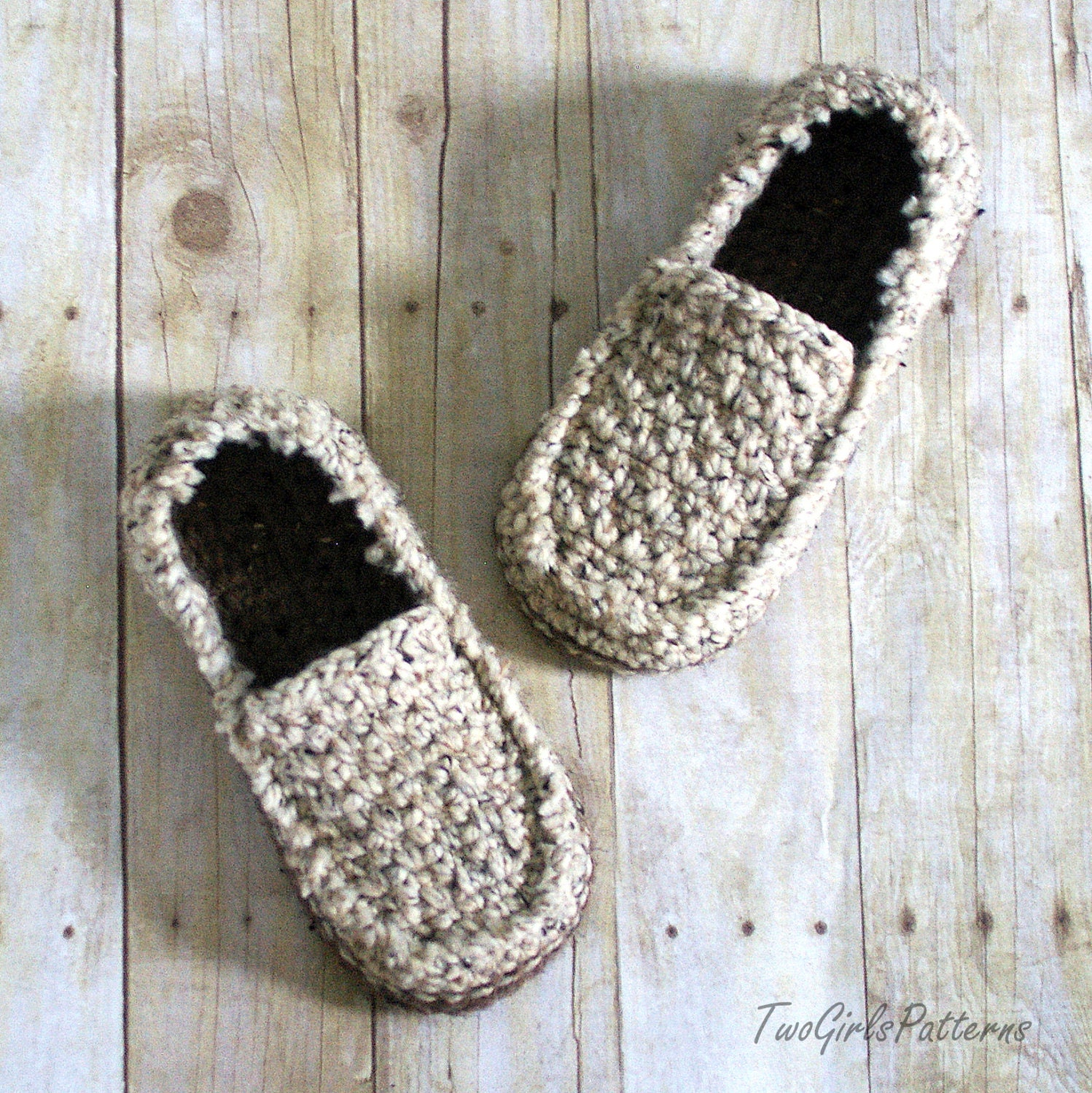 Free Crochet Pattern Loafer Slippers : Crochet Pattern for Super Pack of Mens Loafers Crochet