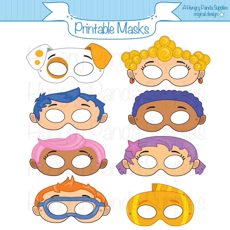 mermaid printable masks fish mask kids party masks guppy