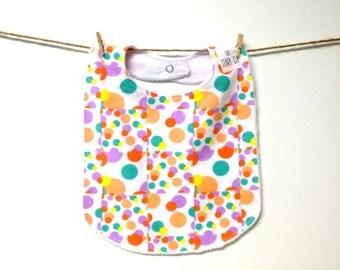 Baby Bib - Toddler Bib - Totally 80s - Dots