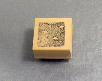 Star Background Rubber Stamp