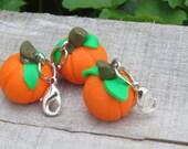 DIY Crafts, Pumpkin charm, pumpkin miniature, pendant supply, miniature food, handmade.