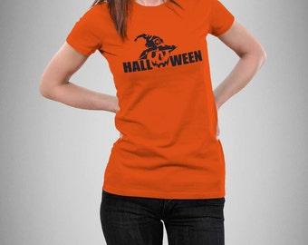 HALLOWEEN Pumpkin Head Halloween T-SHIRT for Women