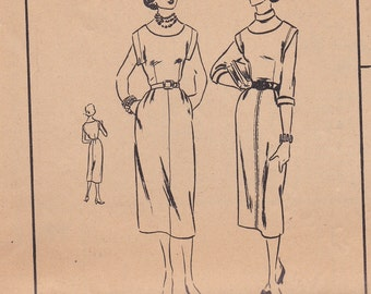 1950s Dress or Jumper Pattern Vogue 3489 Size 13 Uncut