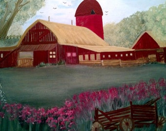 """Painting """"Country Born"""" 18x24"""""""