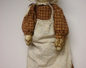 Primitive Prairie Doll, Vintage Style Doll, Pioneer Doll, Prairie Dress Girl