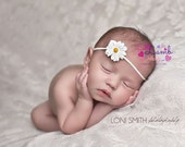 Daisy Newborn Headband, Couture Baby Headband, Newborn Girl Props, baby photography props, Hair Bands, Toronto Canada