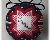 Quilted Keepsake Ornament - July 4th - Patriotic