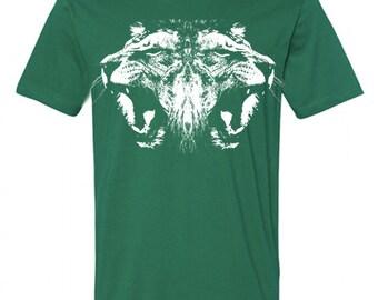 Sale Mens Vintage Retro LION HEAD Cat Animal Hipster Screen Print Short Sleeve tshirt tee  shirt s m l xl 2xl Alternative Apparel 18 Colors