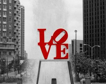 Philadelphia, PA, Love Fountain, Instant Download, Digital, Fine Art Photography