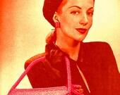 A BEST Vintage 1940s Cosmopolitan Hat & Handbag Set 284 PDF Digital Crochet Pattern