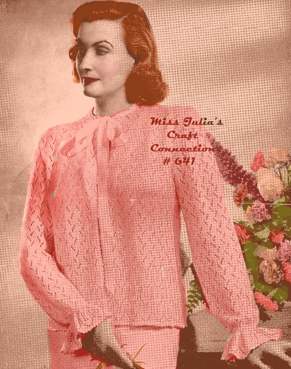 Georgia Afghan Knitting Pattern : Almost FREE Vintage Lace Bed Jacket Sweater 641 PDF ...