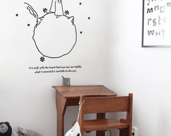 Small Prince Wall Sticker - Adhesive Vinyl Wall Sticker