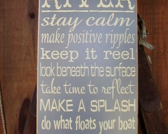 Lake House Sign, Lake Decor, Wisdom from the River, River Sign, Cabin Decor, Lake Decor, Lake Wall Art, Wood Signs
