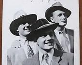Flechet, 1949, hat, vintage, ad, original, men, French, fashion, Guy Arsac, advertisement, large, free shipping, paper, ephemera