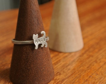 Personalized Cat Ring
