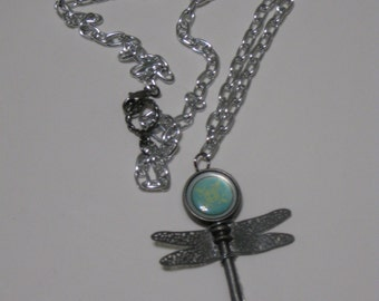 Dragonfly Key Metalwork Necklace