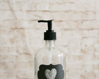 Chalkboard Recycled Glass Soap Dispenser