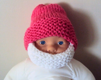 Baby Beard Hat Baby Beanie Baby Hat Knit Baby Hat Face Mask Ski Mask - 0-18 months
