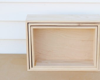 Nesting wood boxes, natural pine wooden box, pine nested container, set of 3, 2 or 1 boxes for storage home decor