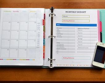 Finance Binder PDF Printable Pages - INSTANT DOWNLOAD - Budget Binder - Money Management - Household Finances - Bill Pay - Home Binder