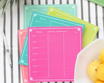 Meal planner grocery shopping list notepad