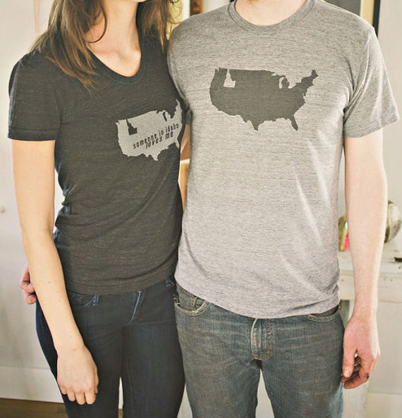 Idaho is a state men 39 s t shirt tri blend shirt idaho for Boise t shirt printing