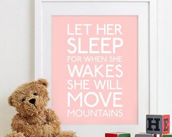 Baby Girl Nursery Art Prints Girl Nursery Decor, Kids Wall Art Baby Girl Gift for Girl Nursery Family Playroom Rules Sign