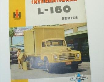 1950s Vintage International Harvester L-160 Series Brochure  Original International Ephemera