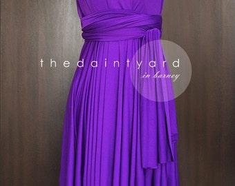 Short Straight Hem Barney Infinity Dress Multiway Dress Bridesmaid Dress Convertible Wrap Dress Wedding Dress Twist Dress Prom Dress