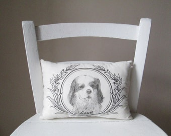 Personalized pet portrait pillow dog cat personalized gift idea hand painted custom message decorative memory cushion