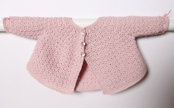 Baby Jacket / Knitting Instructions in English / PDF Instant Download  / Sizes Newborn, 3 and 6 months