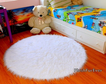 5u0027 mongolian white faux fur rug round luxury plush new white sheepskin rug modern
