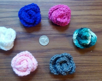Crochet Flower - Lot of 2 - Assorted Colors