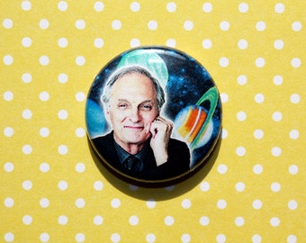Alan Alda Science Space- One Inch Pinback Button Magnet
