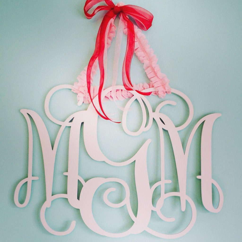 Home Decor Wall Initials Wooden Monogram By Customcutmonograms
