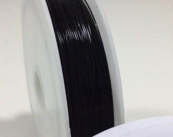 10 yd. Black Steel Beading Wire .38mm