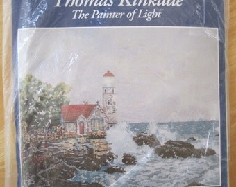 "Needlepoint Kit - Thomas Kinkade - Beacon of Hope - by Candamar Designs - 18"" x 14"" - NEW NIP"