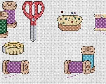 Sewing Supplies - Threads - Cross Stitch Pattern