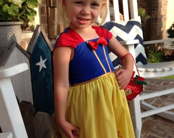 Disney Snow White inspired princess dress. Perfect for your Disney vacation, birthday party, costume, or to wear everyday!