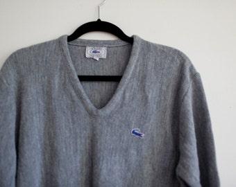 Blue Alligator Grey Izod Sweater- Medium