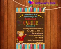 DANIEL TIGER - Daniel tiger invitation, Daniel tiger party, Daniel tiger printables, Daniel tiger Birthday party, printable at home!