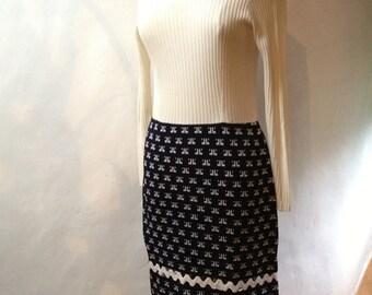 Vintage LANVIN Dress and Hat - Paris - Size 8 (US)