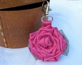 Glow in the Dark Rose Safety Reflector - Woman Bag Backpack Charm - Purse Accesories - Gift for Girl, Reflective Bow, Christmas present