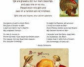 You've Been Gobbled Fall Sign with Grateful Emily Dickinson Poem for Thanksgiving Blessing Bags (like You've Been Booed) vintage look